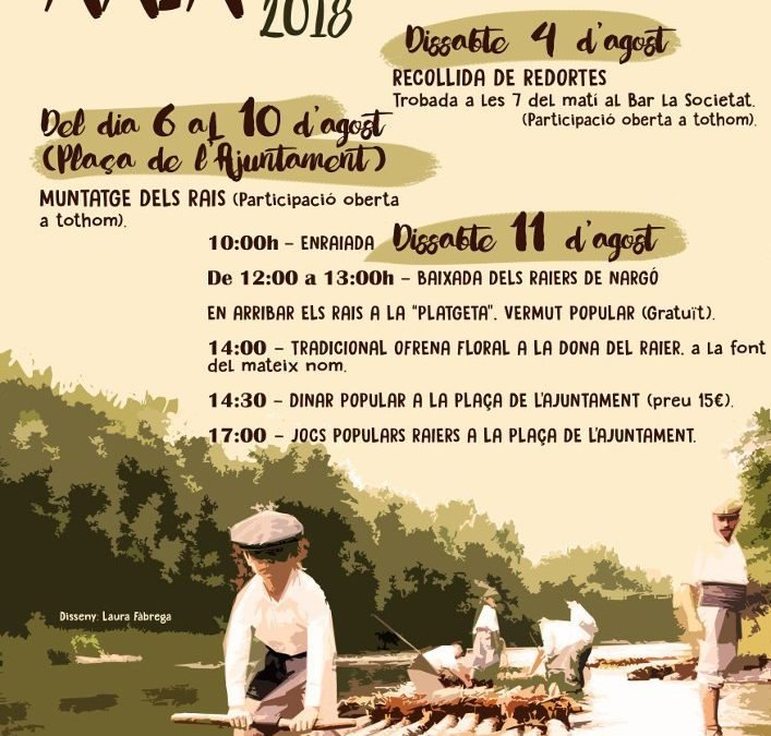 Saturday 11th of August: Annual descent with rafts, to conmemorate ancient profession.